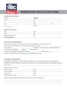 ABC membership form