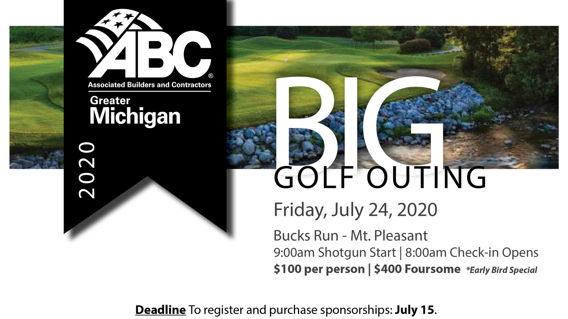 Big gold outing flyer
