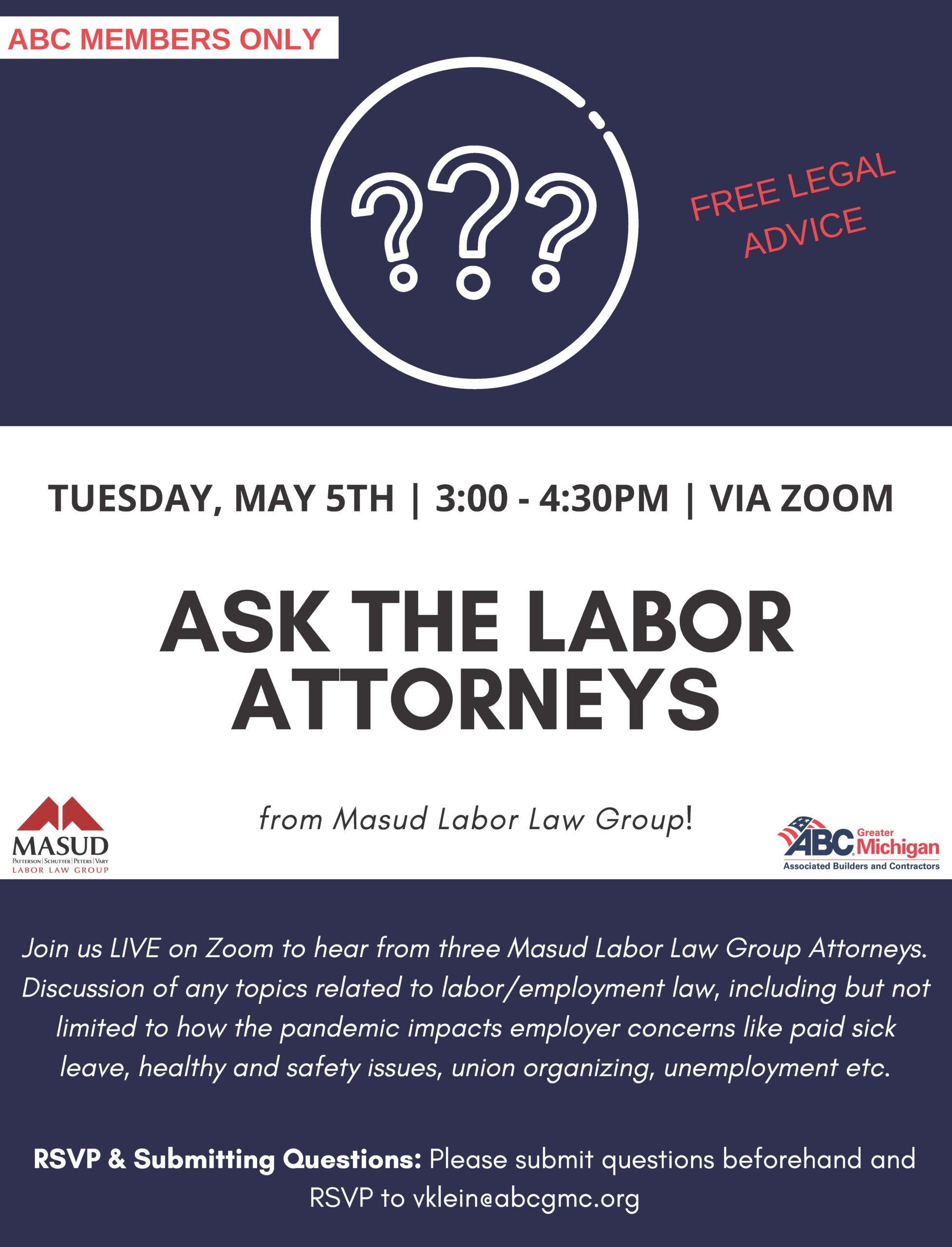 Ask the labor attorney flyer