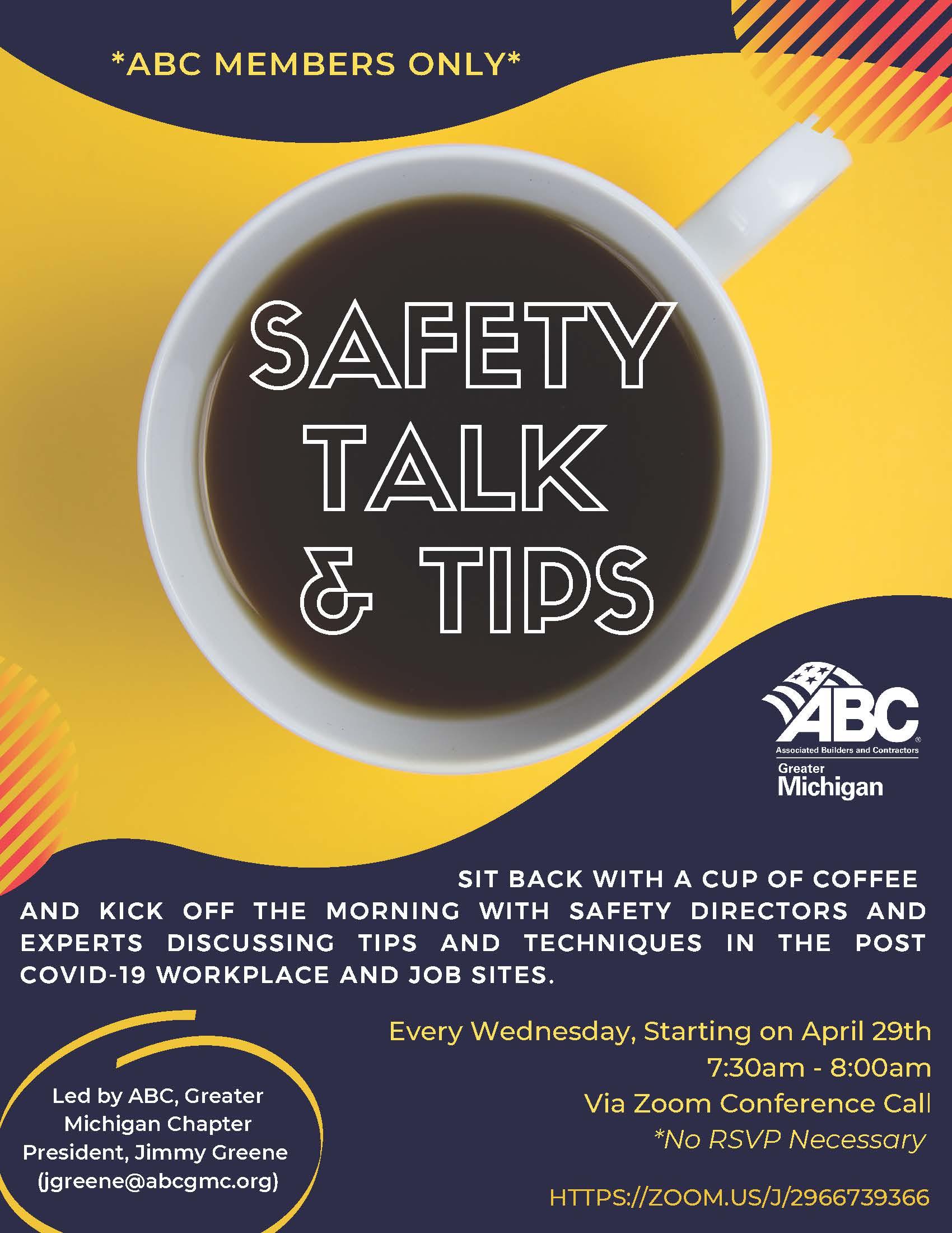 Safet Talk & Tips banner