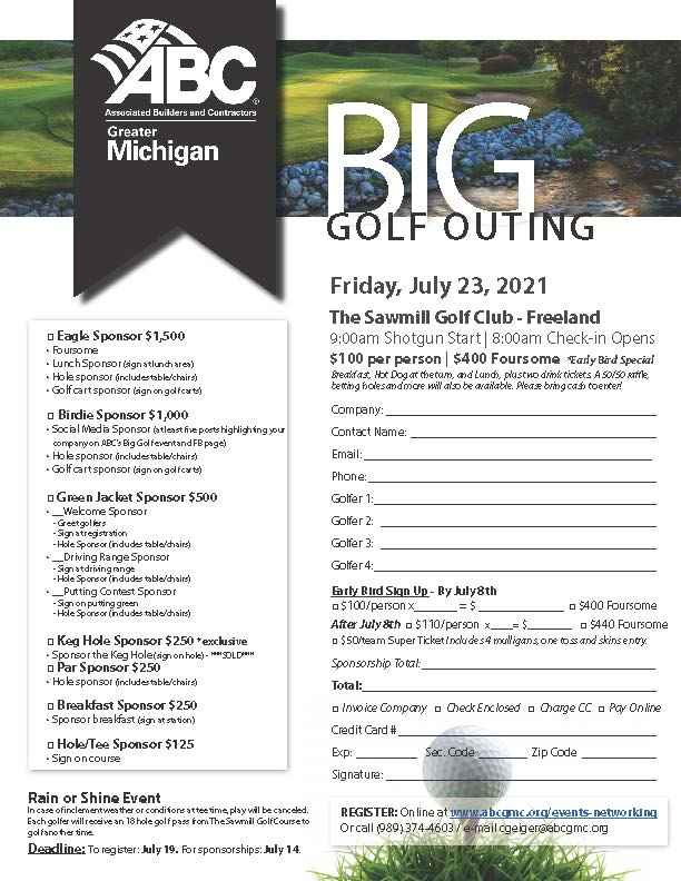Big Golf Outing Flyer